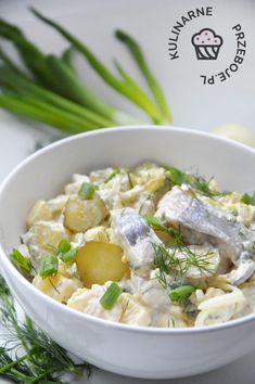 Śledzie po chłopsku Fruit Recipes, Healthy Recipes, Polish Recipes, Polish Food, Risotto, Potato Salad, Seafood, Food And Drink, Menu