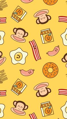 Ideas wall paper phone cute cartoon for 2019 Lines Wallpaper, Mood Wallpaper, Kawaii Wallpaper, Photo Wallpaper, Colorful Wallpaper, Paul Frank, Emoji Phone Cases, Graffiti Quotes, Computer Humor