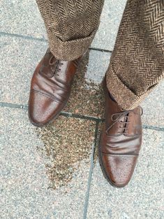 Rauben — swedishprep:   Tweed and Cordovan. #Crockett&Jones...