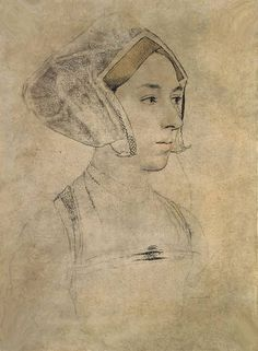 Anne Boleyn sketch by Holbein | Flickr - Photo Sharing!