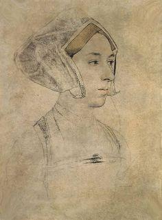 Anne Boleyn sketch by Holbein   Flickr - Photo Sharing!