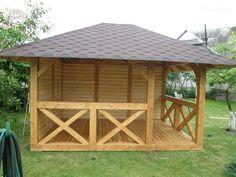 Wooden Pallet Projects, Wooden Pallets, Home Building Design, Building A House, Wooden Summer House, Gazebo, Pergola, Backyard Pavilion, Outdoor Sheds