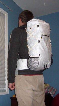 Tyvek pack on back