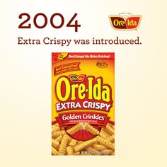Extra Crispy was introduced.
