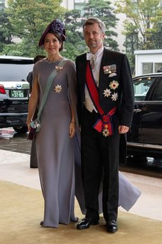 Princess Mary Photos - Crown Prince Frederik and Crown Princess Mary of Denmark arrive to attend the Court Banquet at the Imperial Palace on October 2019 in Tokyo, Japan. - Enthronement Ceremony Of Emperor Naruhito In Japan Prince Albert, Prince Héritier, Prince Charles, Princesa Mary, Princesa Charlene, Queen Margrethe Ii, Queen Maxima, Queen Letizia, Crown Princess Mary