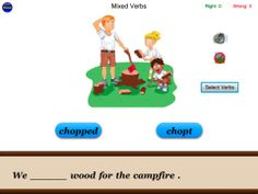 English Irregular Verbs - Language Art Vocabulary Grammar app ($2.99) 155 irregular verbs, with a sentence for each word • Three different skill levels • Audio pronunciation for every word • Every word is clickable and pronounces the word • A picture for each sentence • Images and audio can be turned on or off • A play button to re-read the sentence