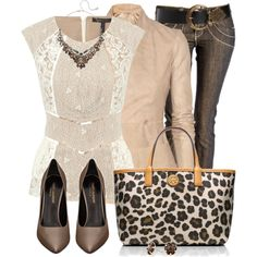 """""""Leopard, Lace and Leather"""" by daiscat on Polyvore"""