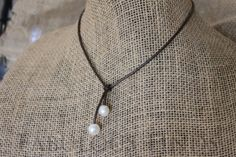 The Perfect Simple Necklace Brown Leather and by loveFabulousFinds, $28.00