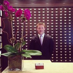 We're thrilled to introduce our newest Front Desk Agent, Thomas. Make sure you listen for his Irish accent when he welcomes you to the hotel! #LibraryHotel #NYC