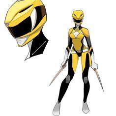 MMPR Yellow Ranger Redesign byDan Mora Chaves #∆∆shani