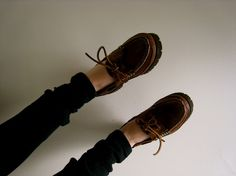 vintage boat shoes