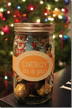 "Great idea from Ellen: ""Gifts In A Jar- Getting a head start on Christmas gift ideas. God knows it's never too early when you have so many to buy for!"" We think you can put your logo on it or a message and reuse for drinks! get supplies here: http://promosthatpop.com/ProductDetails/?productId=7126977&tab=Tile&referrerPage=ProductResults&refPgId=504727885&referrerModule=PRDREB"