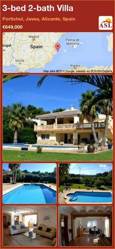 3-bed 2-bath Villa in Portichol, Javea, Alicante, Spain ►€649,000 #PropertyForSaleInSpain