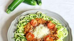 Cukkini bolognai spagetti