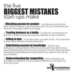 the five biggest mistakes startups make #startup #business #mistakes