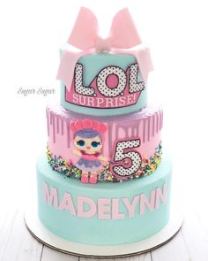 Lol Surprise Birthday Cake Lol Surprise Party Ideas Pinterest