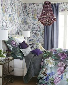 Looking for purple decor? Find purple furniture, bedding, home accents, throw pillows and artwork. Find a curated collection of stunning purple home decor. Diva Bedroom, Home Bedroom, Bedroom Decor, Bedroom Ideas, Master Bedroom, Designers Guild, Boudoir, Purple Home Decor, Purple Bedding