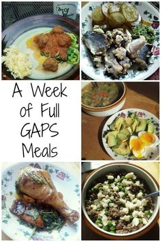 What are does a week of Full GAPS meals look like? Read on to get ideas and suggestions of some of my favorite GAPS Diet recipes.