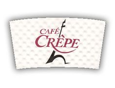 Cafe Crepe custom printed Java Jacket™ coffee sleeve.