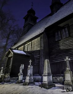 St. Anna's Church in Nowy Targ (Polish: Kościół św. Anny). One of the oldest wooden churches in the region, dated back to 15th century.