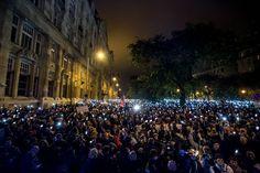 Tüntetés az internetadó ellen.