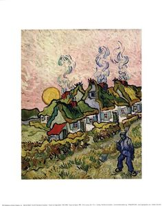 House and Figure, c.1890 by Vincent Van Gogh art print