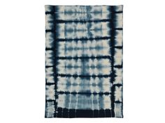Tapis 100% laine motif tye and dye effet délavé bleu 160x230cm INDIGO