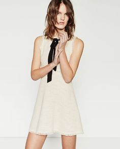 Image 2 of TWEED DRESS WITH LAYERED SKIRT from Zara