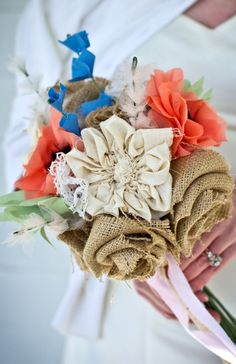 Rustic Chic Fabric Wildflower Bouquet