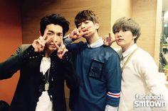 150307 Обновление SmTown 슈퍼주니어(Super Junior)-D&E и 샤이니(SHINee) MINHO на MBC Music Core