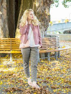Outfit in Rosa für den Herbst. www.marmormaedchen.ch