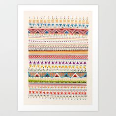 Pattern Art Print by Sandra Dieckmann - $18.00
