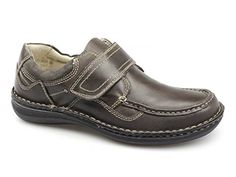 Dr Keller PLUTO Mens Leather Velcro Shoes Brown - http://on-line-kaufen.de/dr-keller/dr-keller-pluto-mens-leather-velcro-shoes-brown