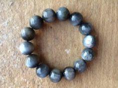 Crocodolite: Quartz Cat's Eye Bracelet to fit a by Crystalcures4u