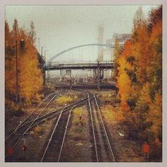 Missä täällä on näin nättiä? Iphone Instagram, Round Two, Helsinki, Monet, Railroad Tracks, Finland, Autumn, City, Check