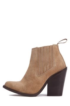 Jeffrey Campbell Shoes 2883-KI Booties in Taupe Distressed Suede- JUST GOT THEM FOR $58.00!! YEAH!!