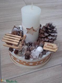 ADVENTI BOX asztaldísz, GYERTYÁS késztermék (agiviragi) - Meska.hu Advent, Christmas Diy, Table Decorations, Winter, Home Decor, Navidad, Bricolage Noel, Gifts, Homemade Home Decor