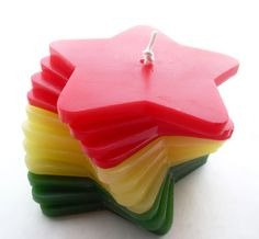 Handmade Rasta Stacking Candle by Quacraft on Etsy, £9.99