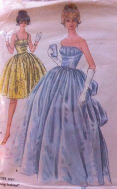 RARE Stunning Vintage 50s Highly Sought after Gathered Shelf Bust Dress Pattern | eBay