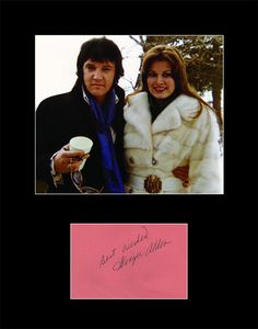 Elvis Presley's Fiance Ginger Alden Hand Signed Autograph and Photo 11x14