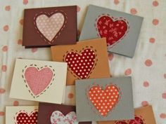 I found these homemade easy-sew cards at The Purl Bee. Even if you can barely thread a needle, you could make these