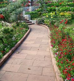 Cut Stone walkway and Path Landscaping idea