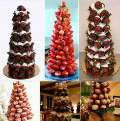 Strawberry Trees - so going to try this when Strawberries are in season.