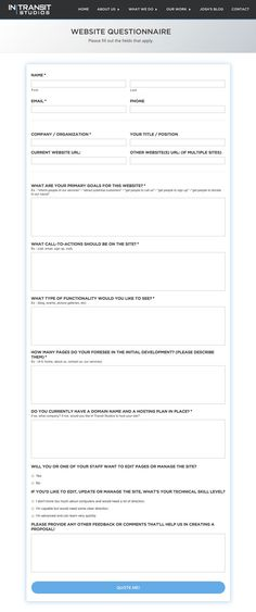 Client questionnaire template for logo design brief the creating a website questionnaire and documentation for your clients elegant themes blog pronofoot35fo Images
