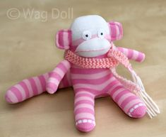 Wag Doll: How To Make A Baby Sock Monkey - Tutorial