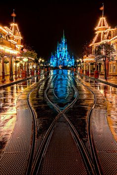 The Cinderella Castle at the end of Main Street USA at night - everything look so pretty when it's lit up! #stopmakingexcuses #pintowin #blackanddecker