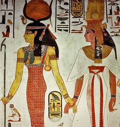 detail-of-a-wall-painting-in-the-tomb-of-Queen-Nefertari.-Isis-Hathor-leads-the-queen-by-the-hand.