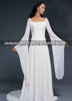 Love the medieval wedding dress sleeves