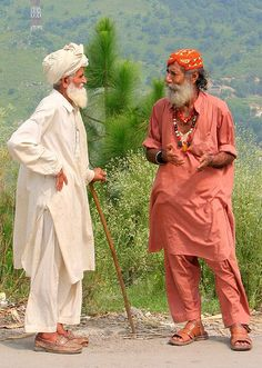 Deep in discussion - Islamabad, Pakistan