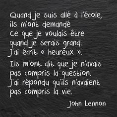 Quotes and inspiration QUOTATION - Image : As the quote says - Description John Lennon. Best Quotes, Love Quotes, Inspirational Quotes, Quotes Quotes, Dont Be Normal, Quote Citation, French Quotes, Some Words, Positive Attitude